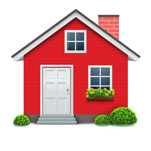 A picture of a house to indicate house clearances